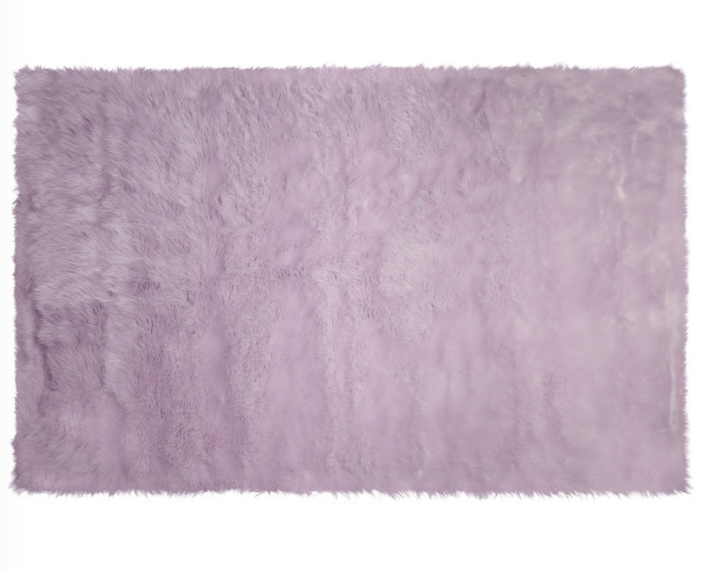Kroma Carpets - Machine Washable Faux Sheepskin Area Rug 4' x 6' - Lavender