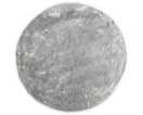 Kroma Carpets - Machine Washable Faux Sheepskin Round Area Rug - Light Grey