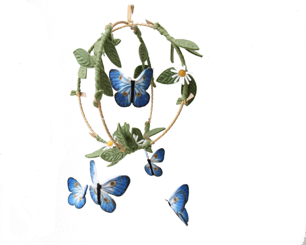 Butterfly Garden Mobile - Gold + Indigo
