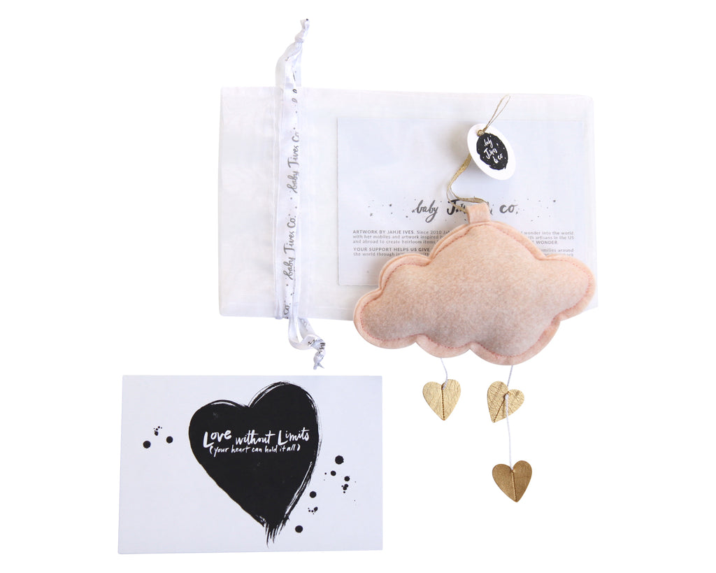 Mini Heart Cloud - Baby Jives Co