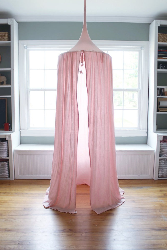 Blue House Joys - Play Tent Canopy in Blush Pink