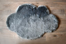 Kroma Carpets - Machine Washable Faux Sheepskin Cloud Area Rug - Grey