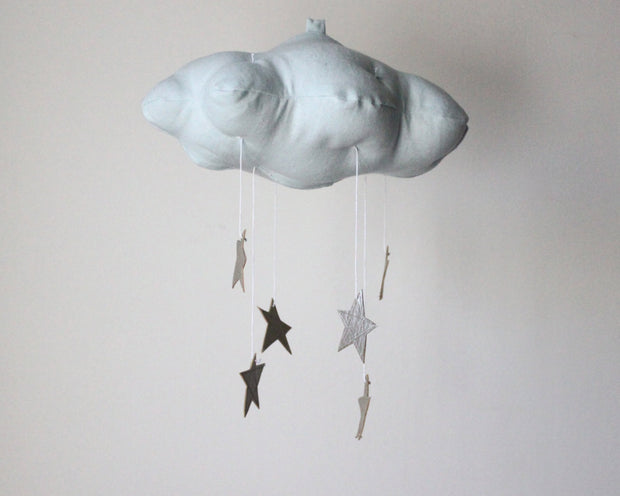 Star Cloud Mobile in Blue and Silver 1