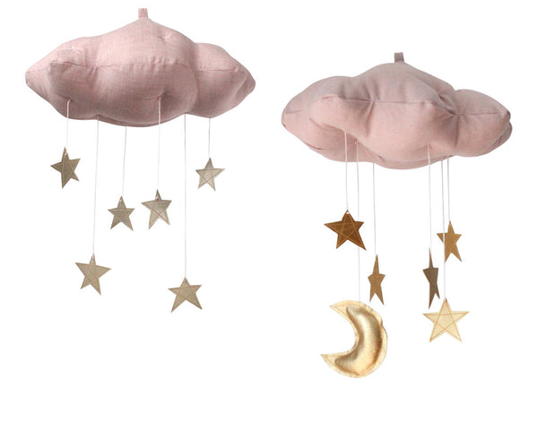Star Cloud Mobile in Rose and Gold - Baby Jives Co