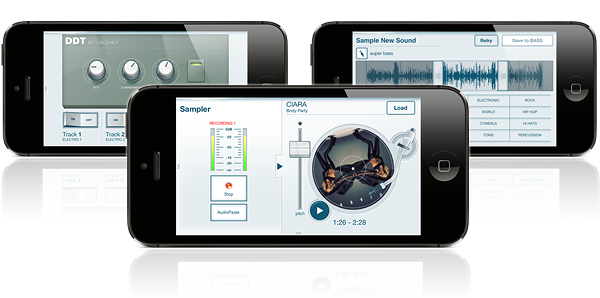 iMPC includes powerful samplers and effects.