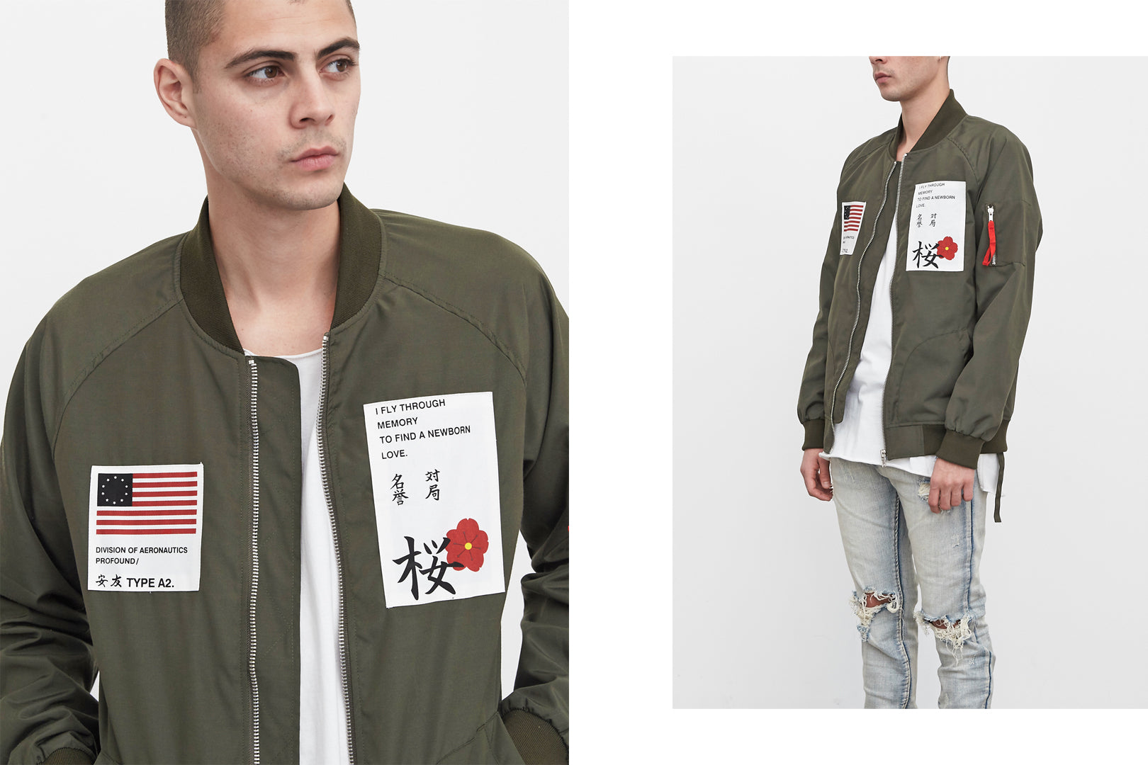 olive aeronautics bomber jacket by profound aesthetic