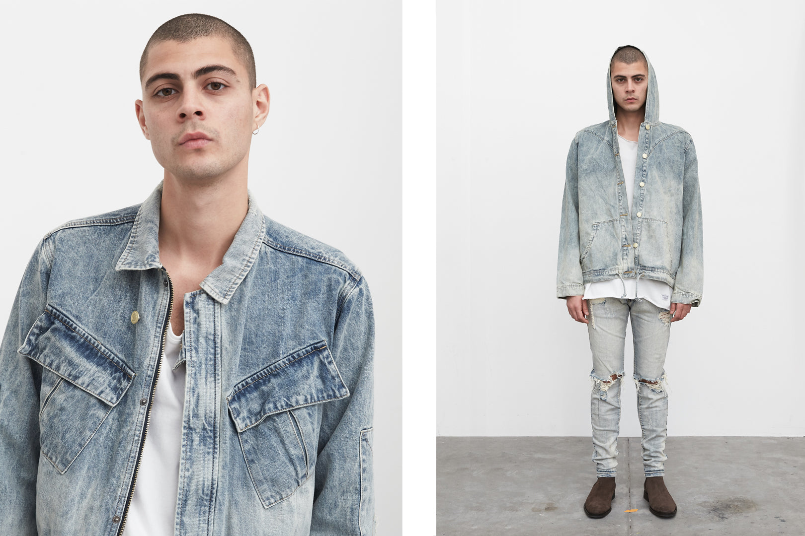 denim outerwear by profound aesthetic