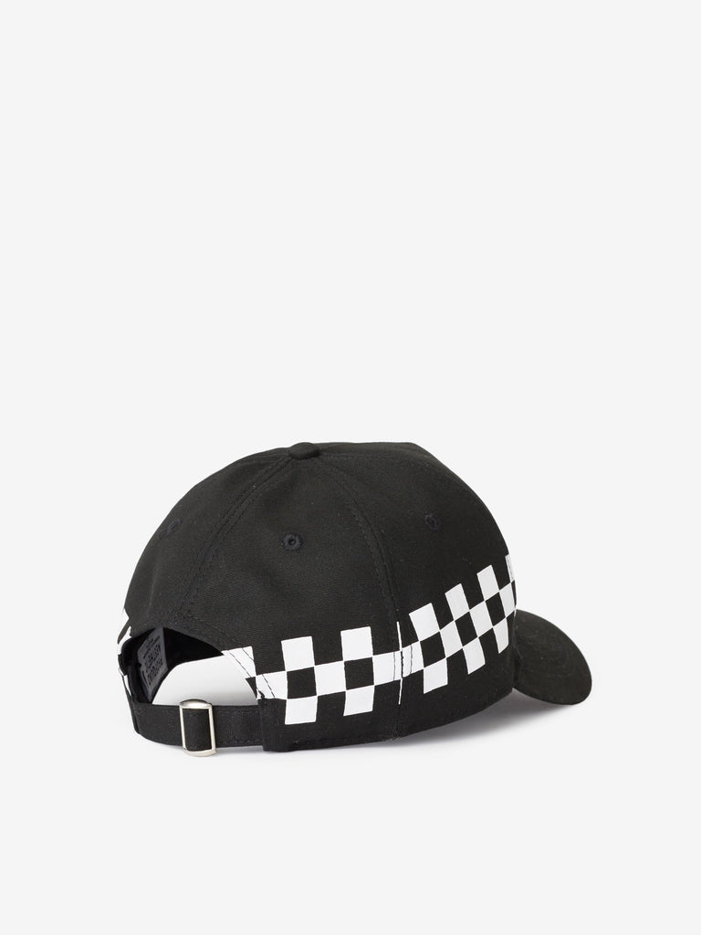 Checkered Racing Cap in Black