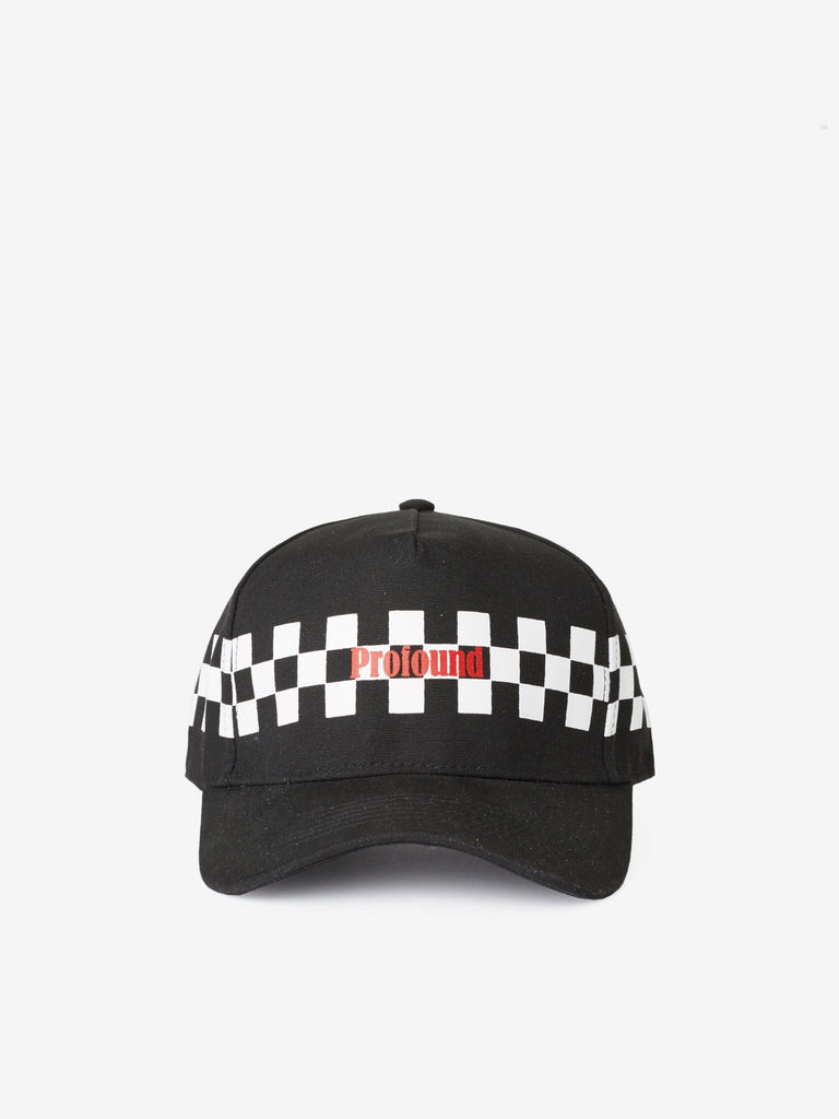 Check Racing Cap in Black