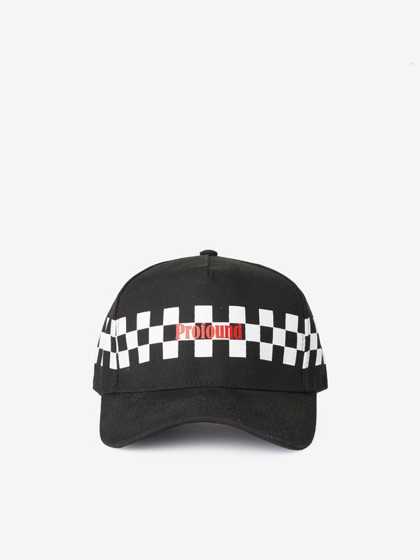 Checkered Racing Cap in Black (221884481554)