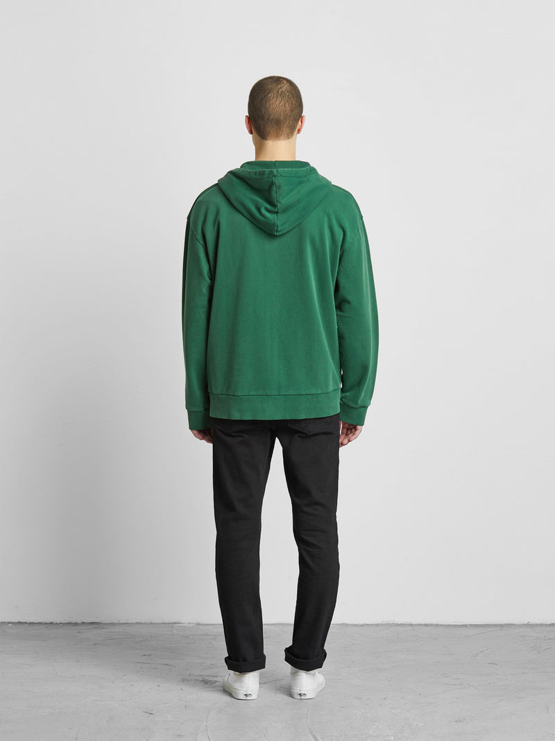 Forest Green Zip Up Hoodie (6205939384510)