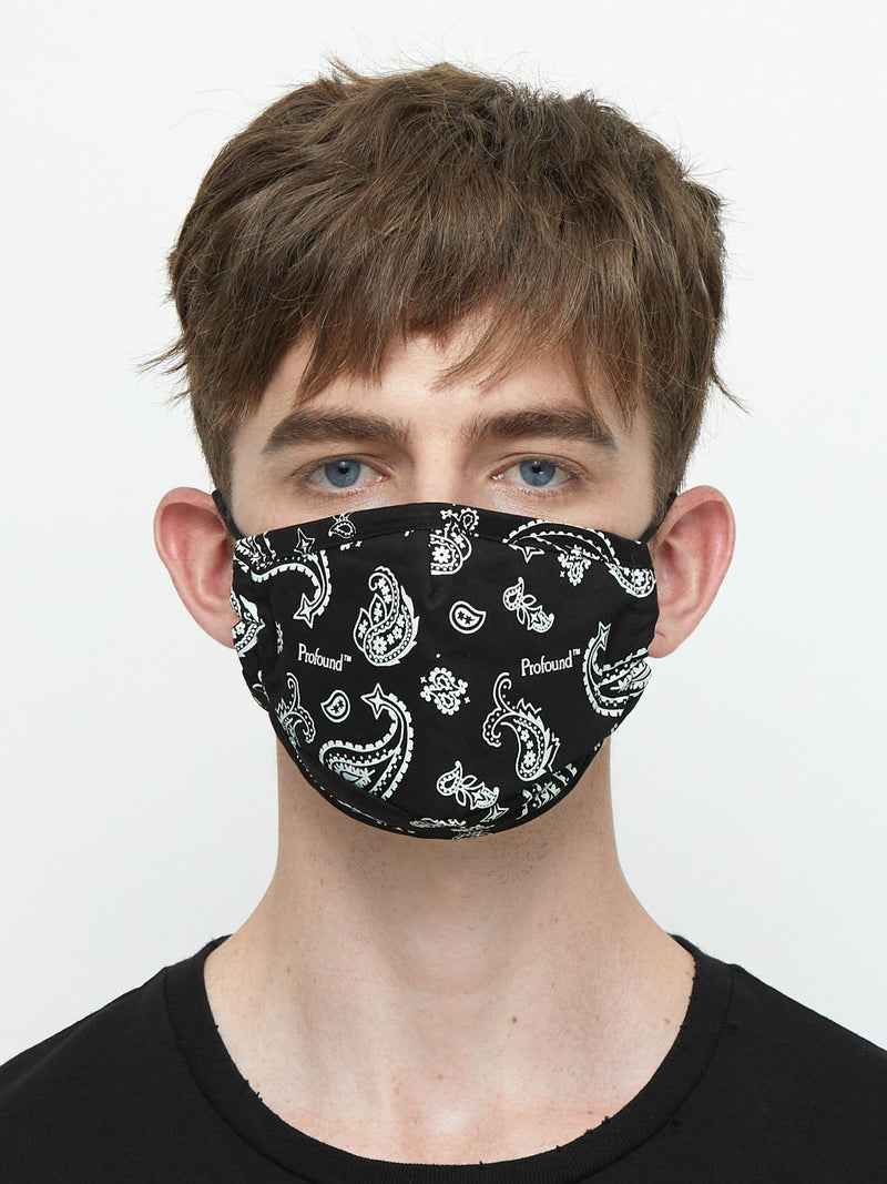 Triple-Layered Protective Bandana Print Face Mask