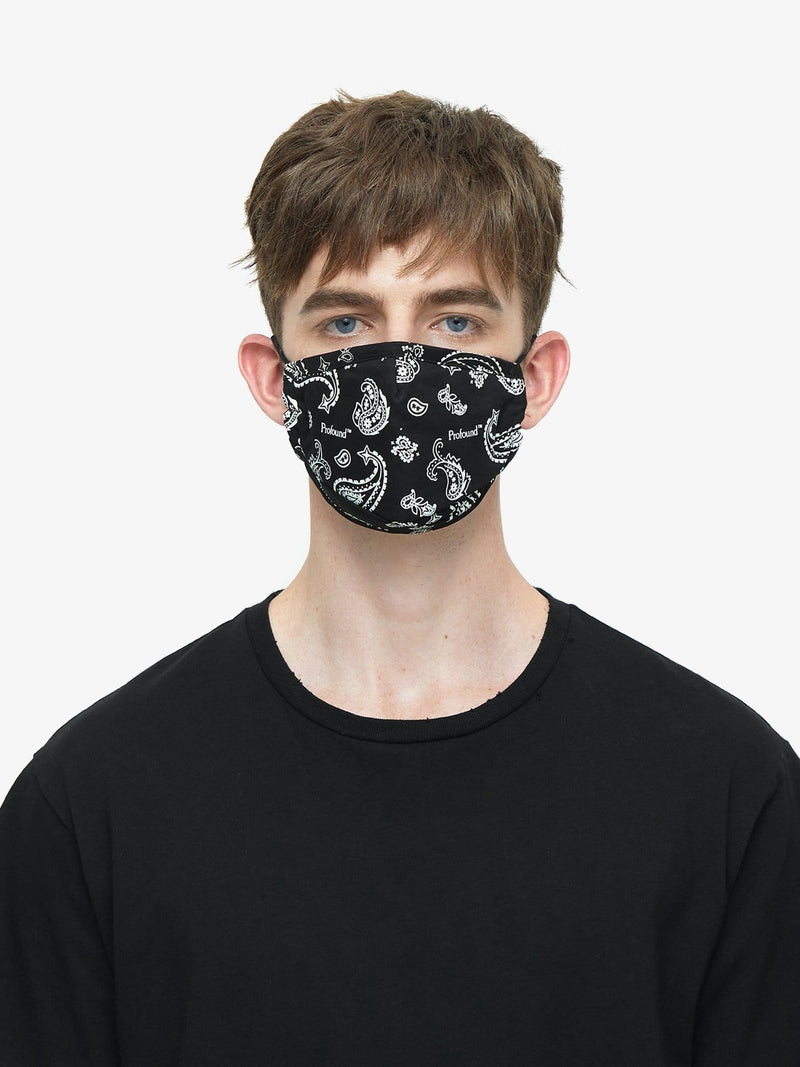 Triple-Layered Protective Bandana Print Face Mask (4657985749063)