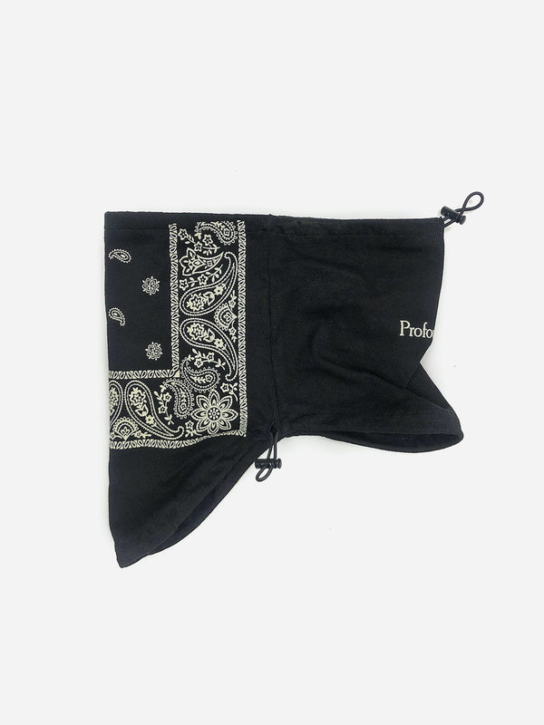 Half-Face Bandana Paisley Black Face Mask (4578604744775)