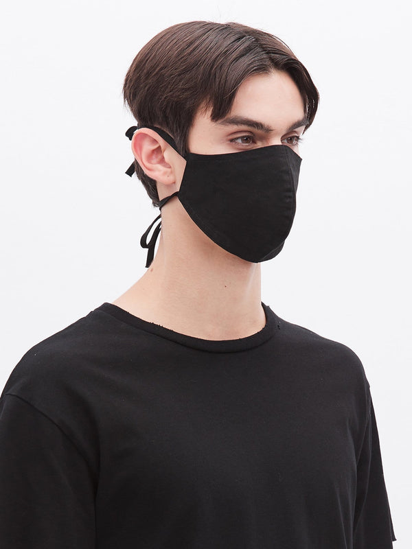 Strap Cotton Mask in Black