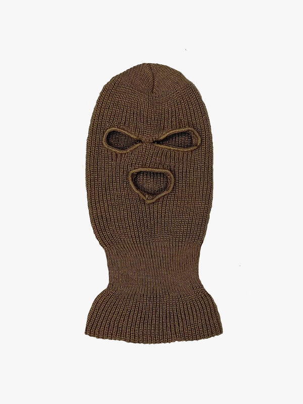 PRE-ORDER | Knitted Ski Mask in Brown (6096711778494)