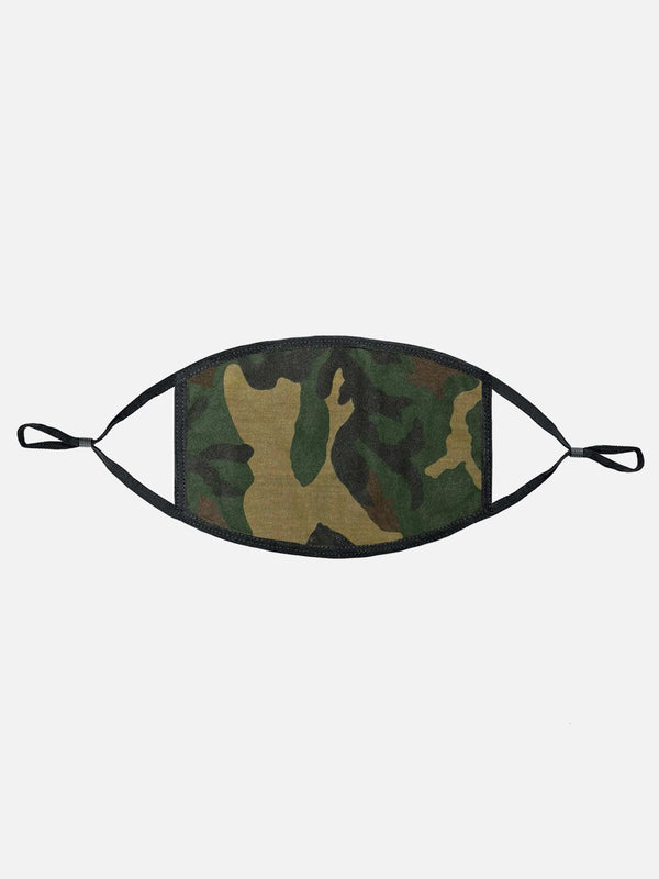 Woodland Camo Face Mask (4622940602439)