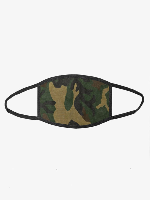Woodland Camo Face Mask