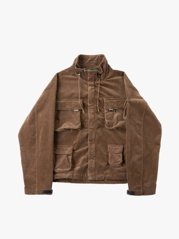 Corduroy Multi-Pocket Cargo Jacket in Brown (6088568045758)