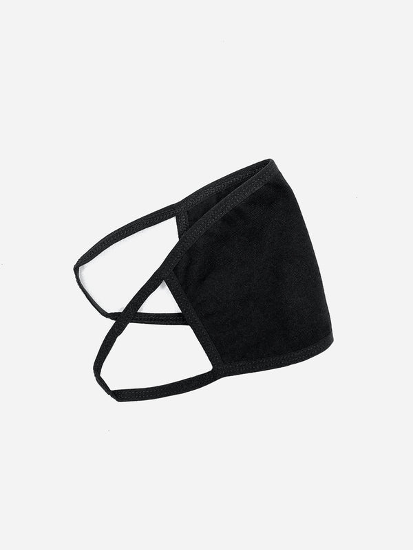 Black Cotton Face Mask (4583947862087)