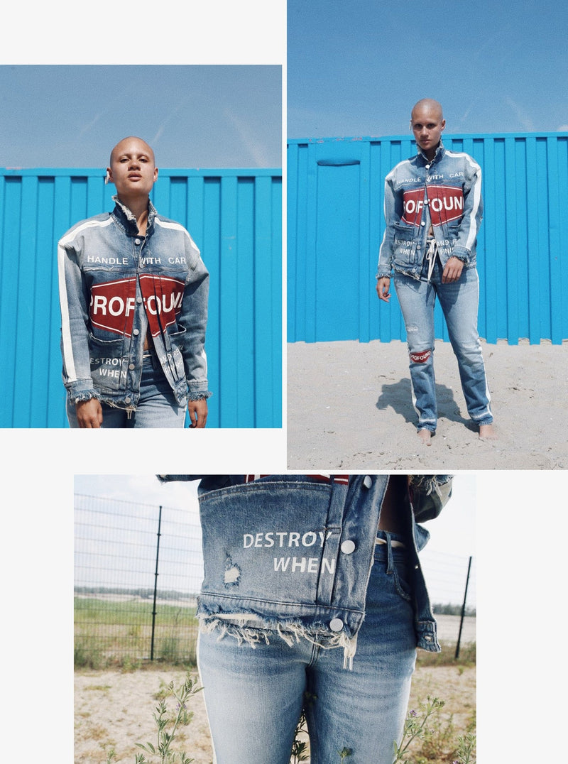 Destroy & Rebuild Denim Trucker Jacket
