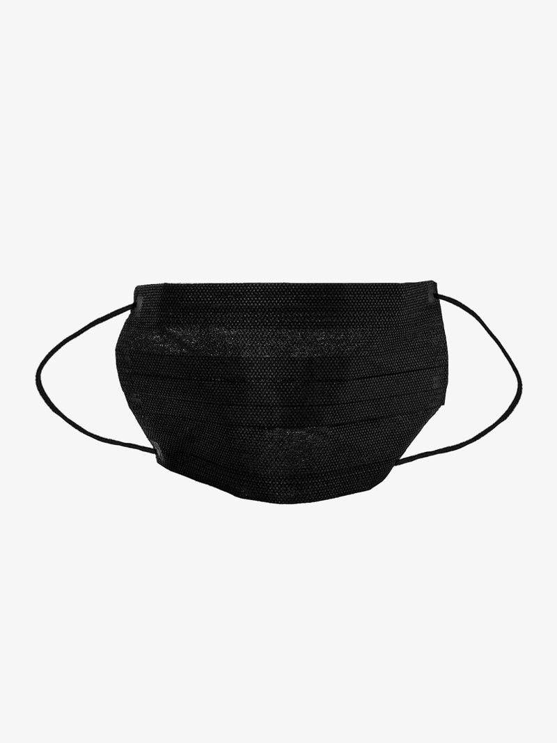 10 Pack | Fabric PM2.5 Filtered Disposable Face Mask in Black