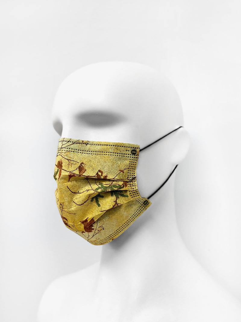 6 Pack | Tree Camo Filtered Fabric Face Mask in Light Gold