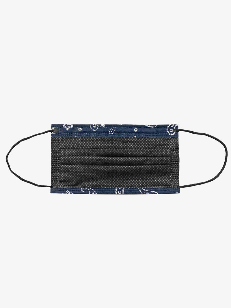 6 Pack | Paisley Filtered Fabric Face Mask in Deep Navy