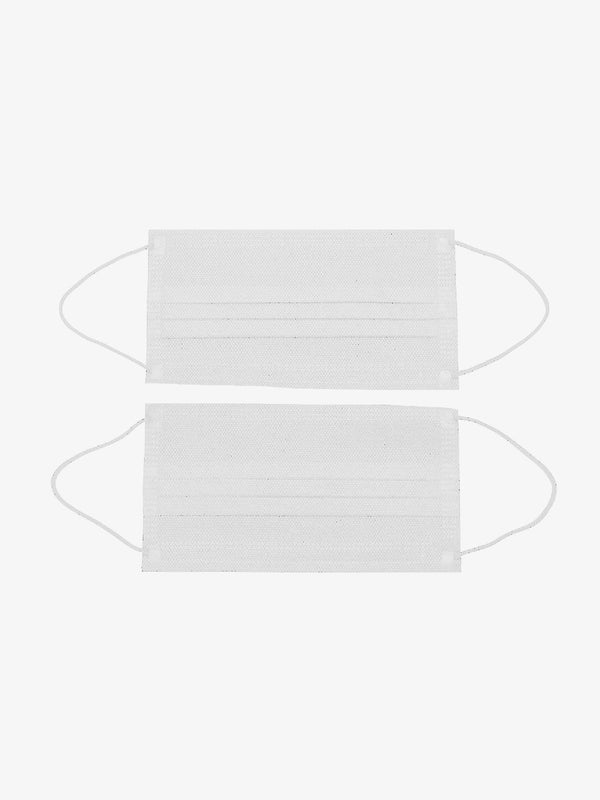 10 Pack | Fabric PM2.5 Filtered Disposable Face Mask in White