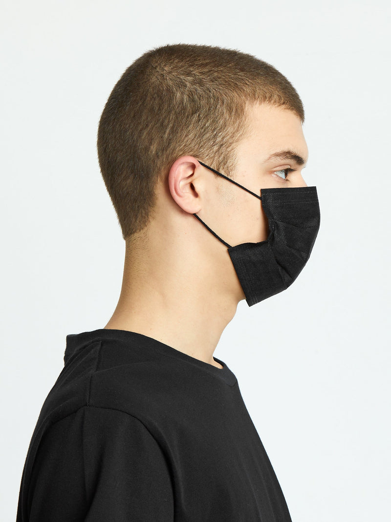 10 Pack | Fabric PM2.5 Filtered Disposable Face Mask in Black (4725696331847)