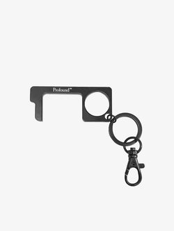 Matte Black Metal Multi-Functional Touchless Keychain