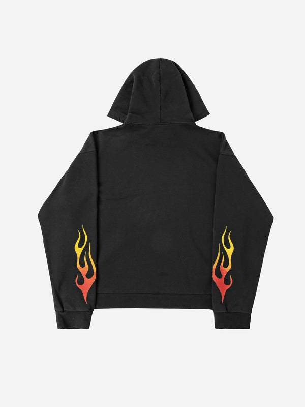 Eagle Flame Hoodie in Vintage Black (4864999817287)
