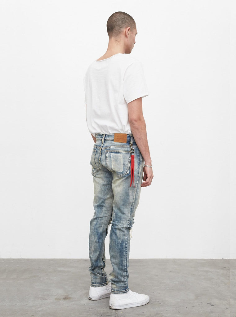 [PRE-ORDER] Earth Washed Destroyed Denim Jeans