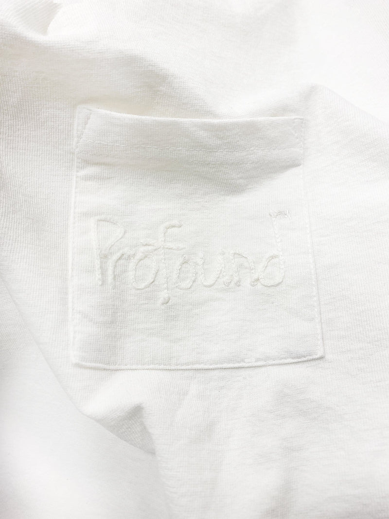 Embroidered Pocket Slab Tee in Textured White (6096433971390)
