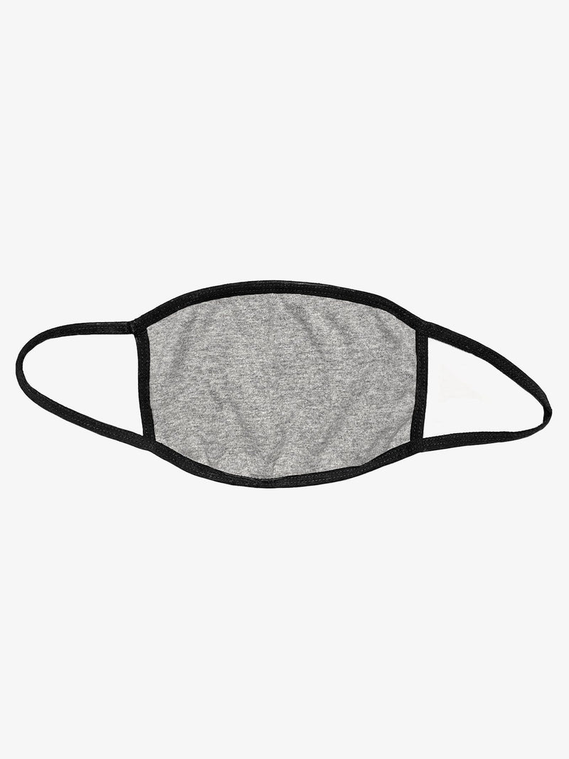Heather Gray Cotton Face Mask (4606639865927)