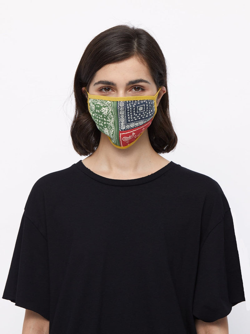 Multi-Color Paisley Cotton Face Mask
