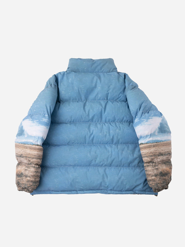 Scenic Horse Puffer Jacket (6088579809470)