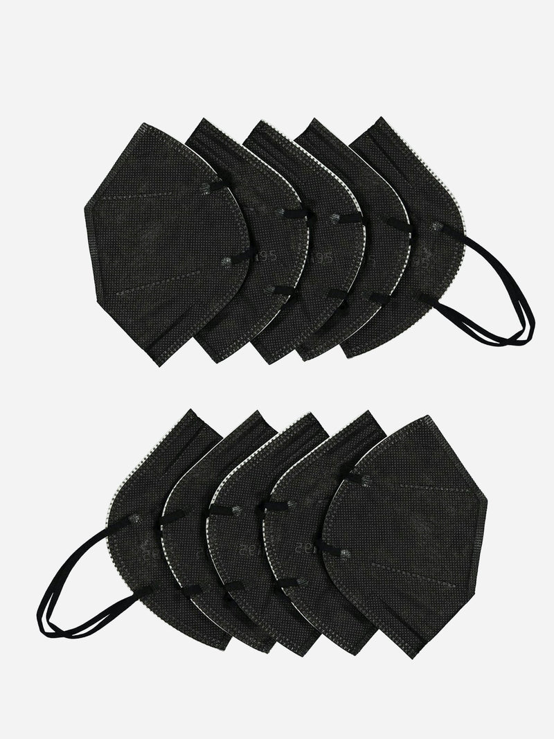 10 Pack | KN95 Filtered Face Mask in Black (6083866591422)