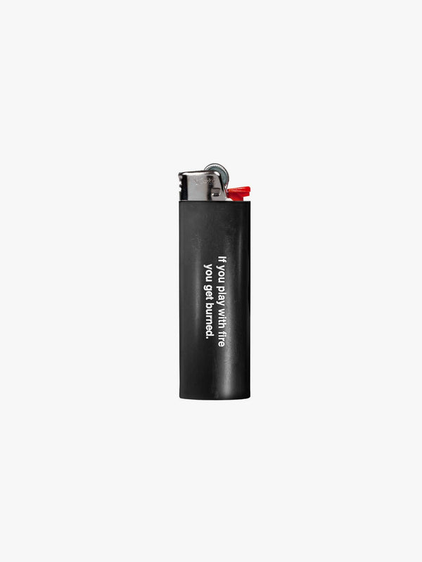 "Black Logo ""Play With Fire"" Lighter"