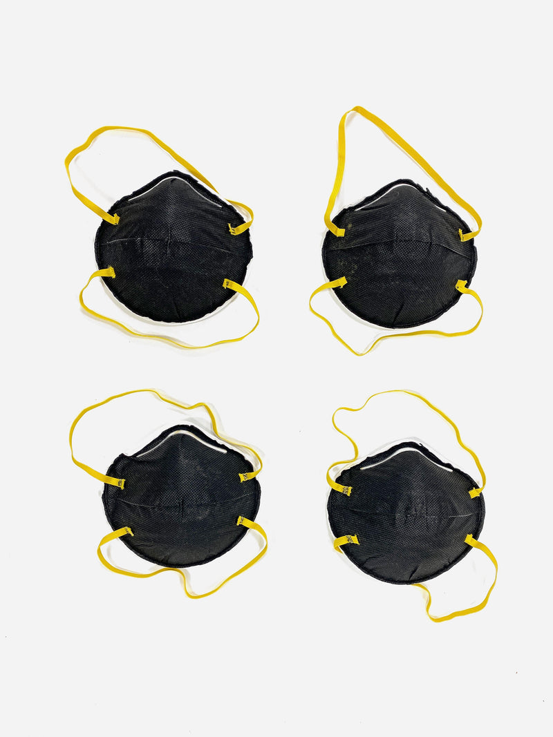 4 Pack | N95 Respirator Face Mask in Black (6088614969534)