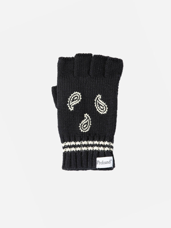 PREORDER | Paisley Knit Fingerless Gloves (6088602386622)