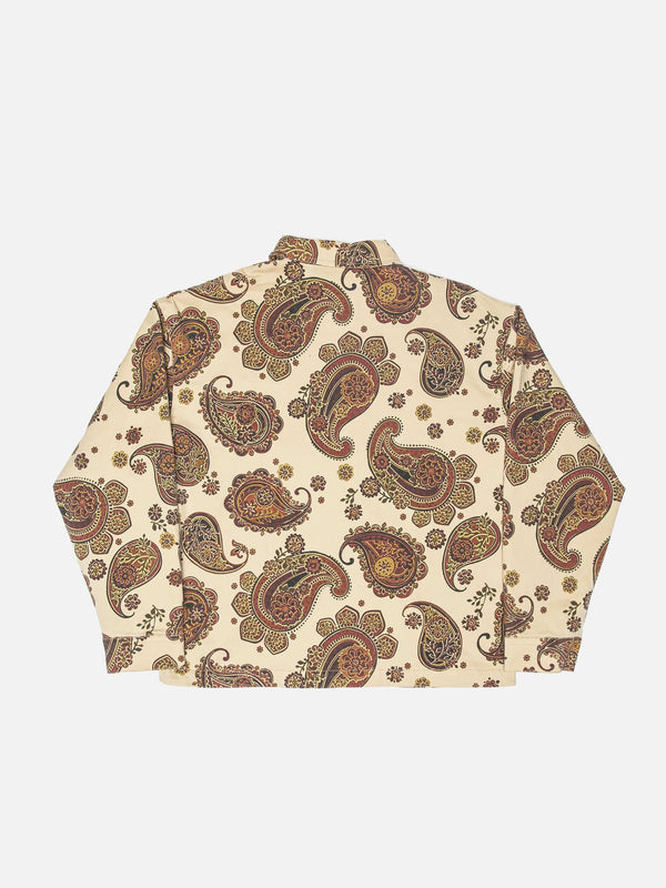 Persian Paisley Trucker Jacket in Sand (6088573452478)