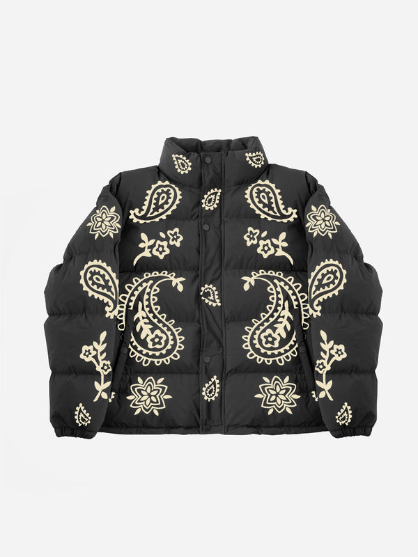 Big Paisley Puffer Jacket (6088580956350)