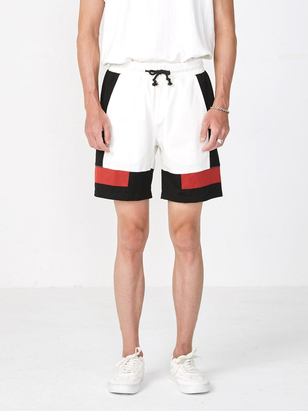 Paneled Color Blocked Shorts