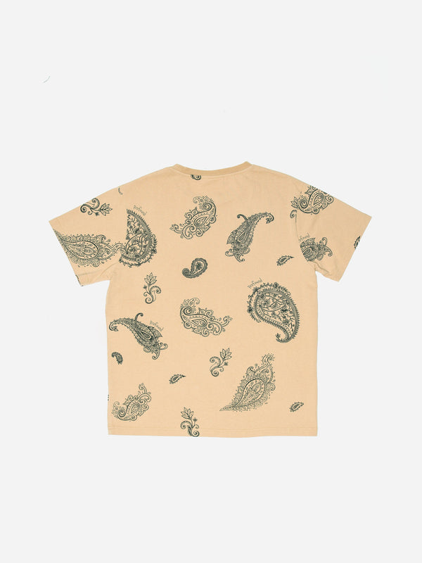Pencil Paisley Tee in Sand (4861005987911)