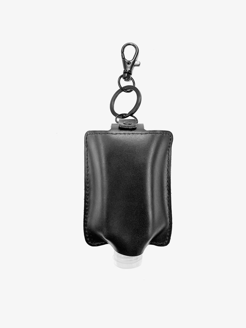 Genuine Leather Hand Sanitizer Keychain Case