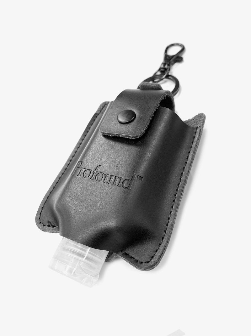 Genuine Leather Hand Sanitizer Keychain Case (4799286247495)