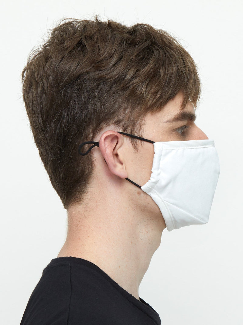 Triple-Layered Off-White Protective Face Mask