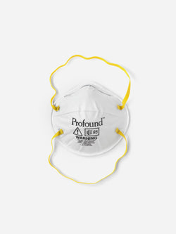 4 Pack | Respirator Logo Face Mask in White (6135393484990)
