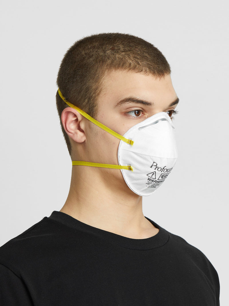 4 Pack | N95 Respirator Logo Face Mask in White (6135393484990)